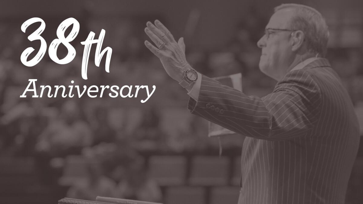 Pastor's 38th Anniversary