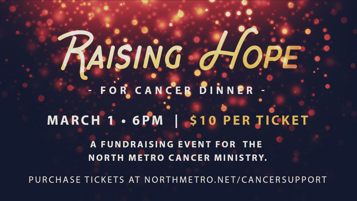 Raising Hope for Cancer Dinner